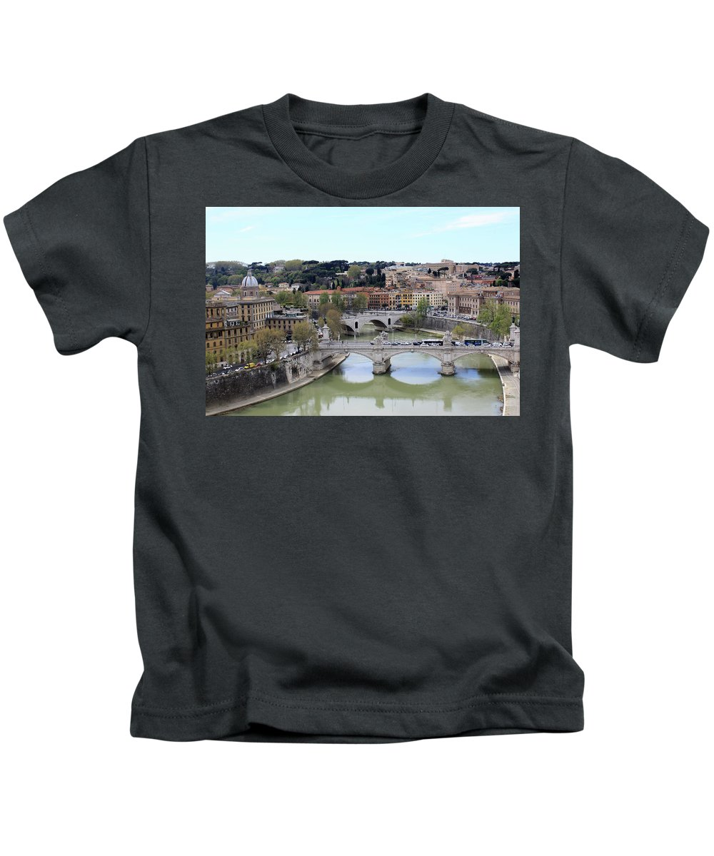 Rome Kids T-Shirt featuring the photograph Rome River by Munir Alawi