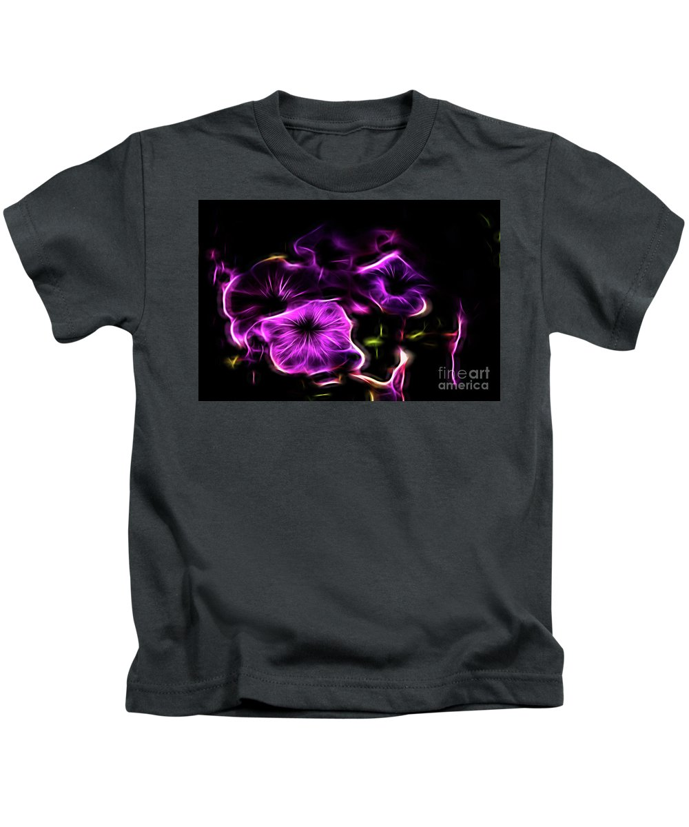 Neon Kids T-Shirt featuring the photograph Rosa Fire by Carolyn Truchon