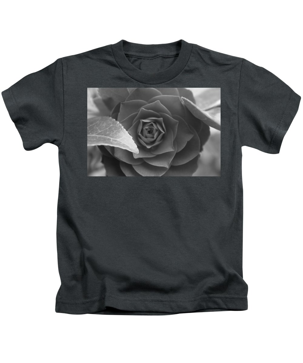 Rose Kids T-Shirt featuring the photograph Rose In Black by Lauri Novak