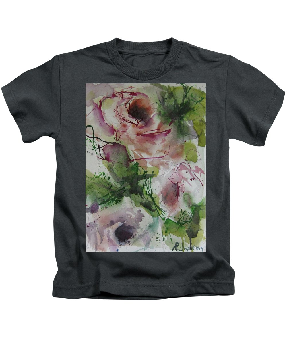 Rose Kids T-Shirt featuring the painting Rosebuds by Robert Joyner