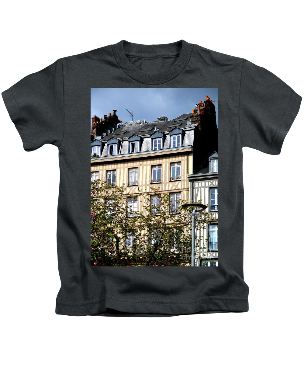 Rouen Kids T-Shirt featuring the photograph Rouen Half Timbered 22 by Randall Weidner