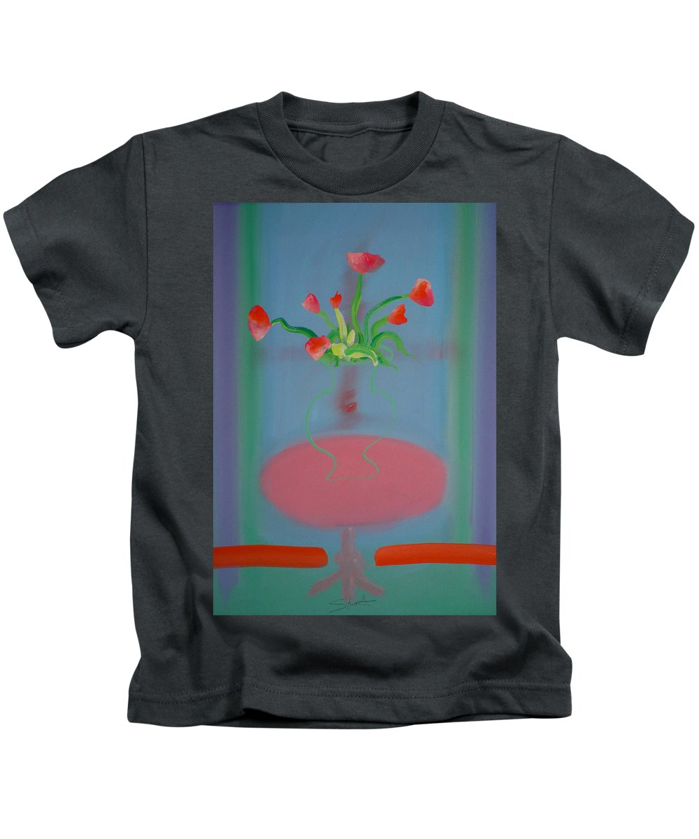 Flower Kids T-Shirt featuring the painting Rouseau Flowers by Charles Stuart