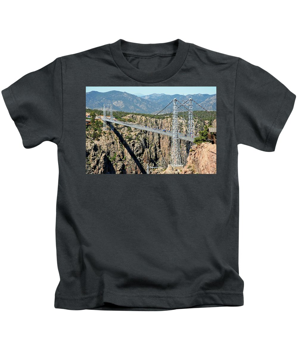 Royal Gorge Bridge Kids T-Shirt featuring the photograph Royal Gorge Bridge In Summer by Robert Meyers-Lussier