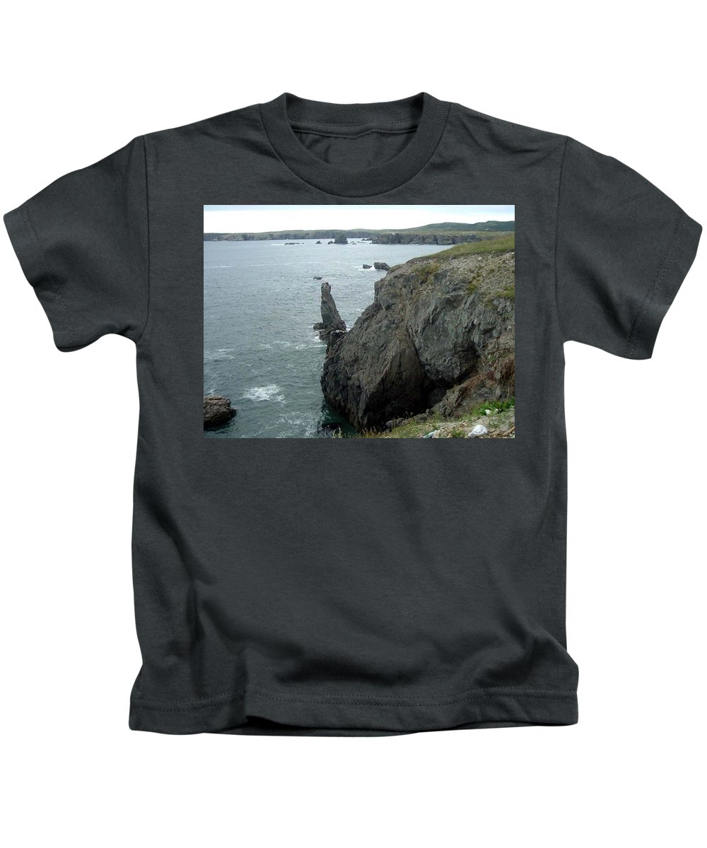 Rugged Coast Kids T-Shirt featuring the photograph Rugged Coastline by Barbara Griffin
