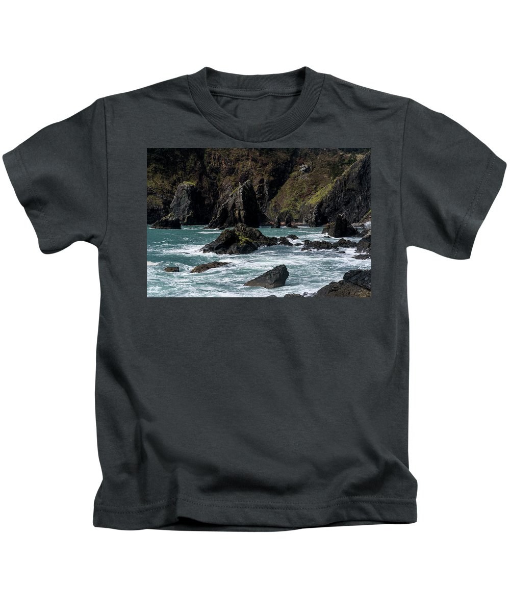 Cliffs Kids T-Shirt featuring the photograph Rugged South Coast by Robert Potts
