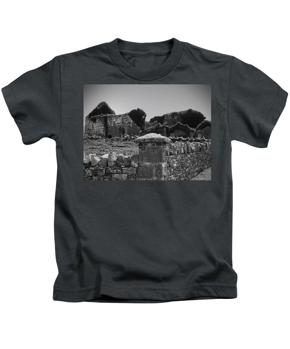 Irish Kids T-Shirt featuring the photograph Ruins In The Burren County Clare Ireland by Teresa Mucha