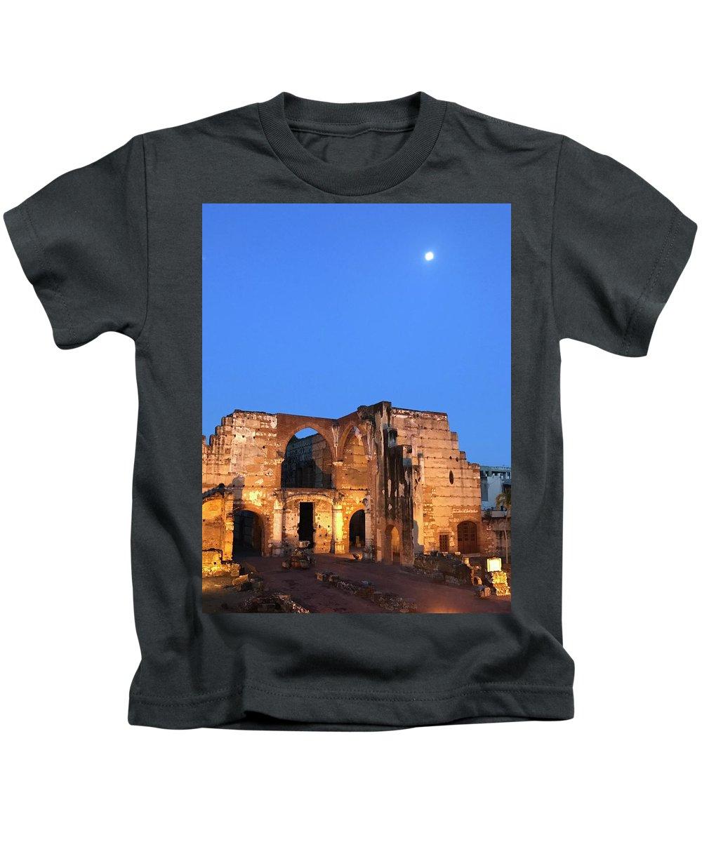 Night Kids T-Shirt featuring the photograph Ruins Of San Nicolas De Bari Hospital by Theodore Johns