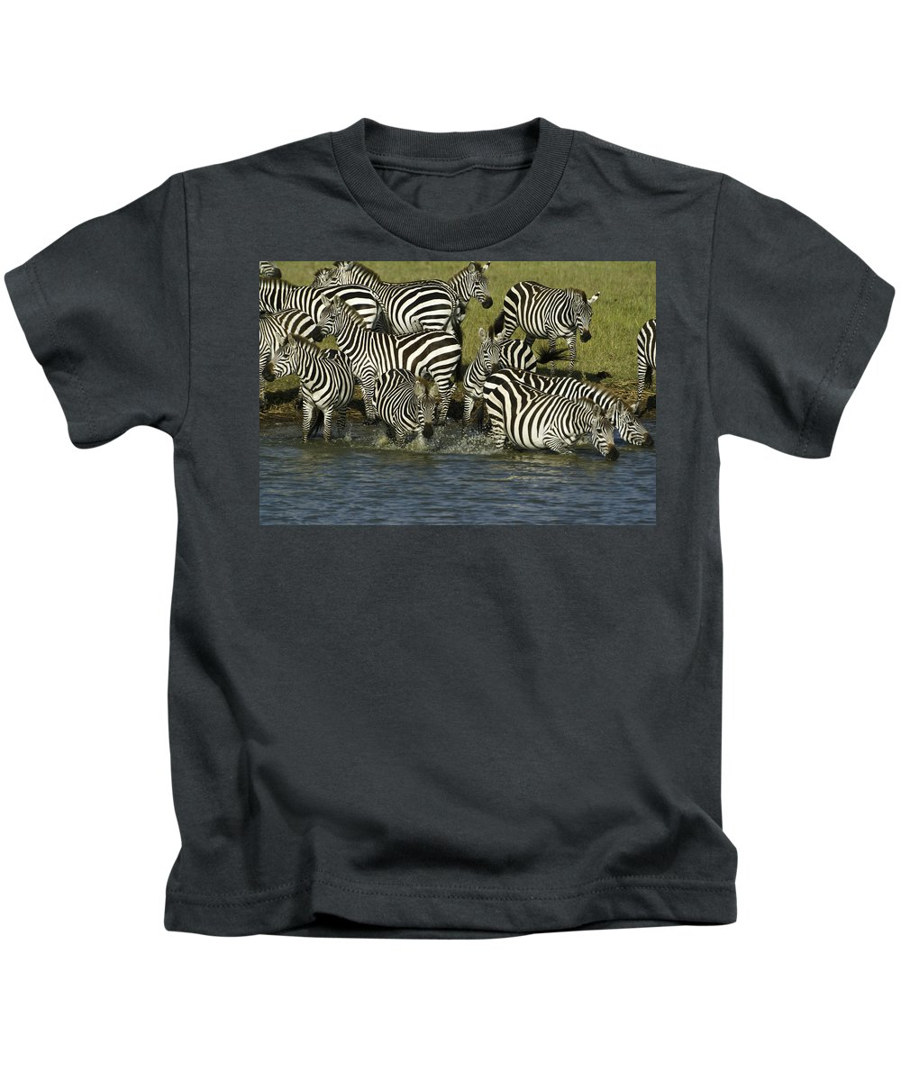 Africa Kids T-Shirt featuring the photograph Rush To Water by Michele Burgess
