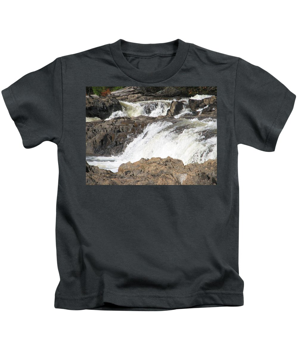 Waterfall Kids T-Shirt featuring the photograph Rushing by Kelly Mezzapelle