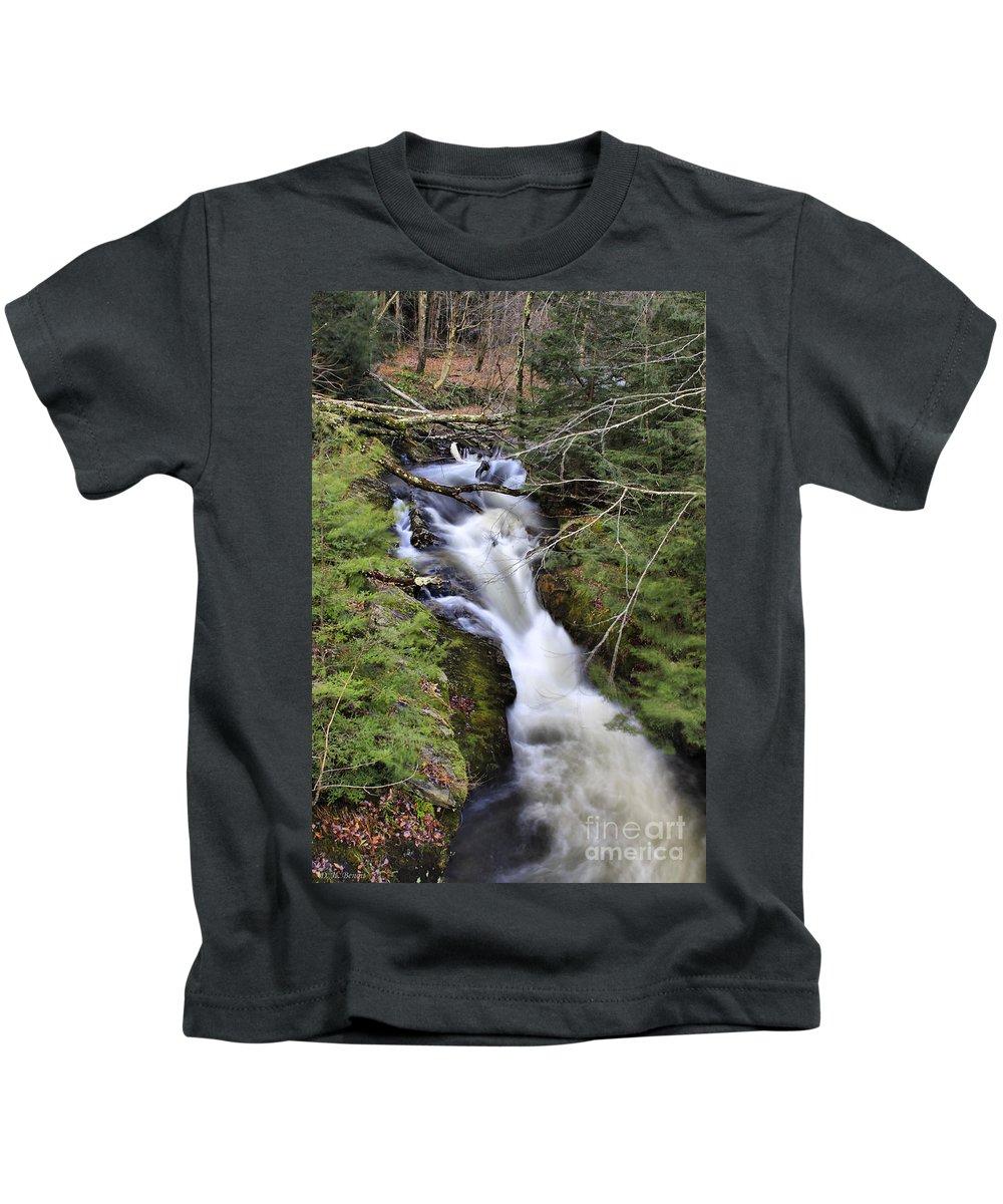 Rural Kids T-Shirt featuring the photograph Rushing Montgomery Brook by Deborah Benoit