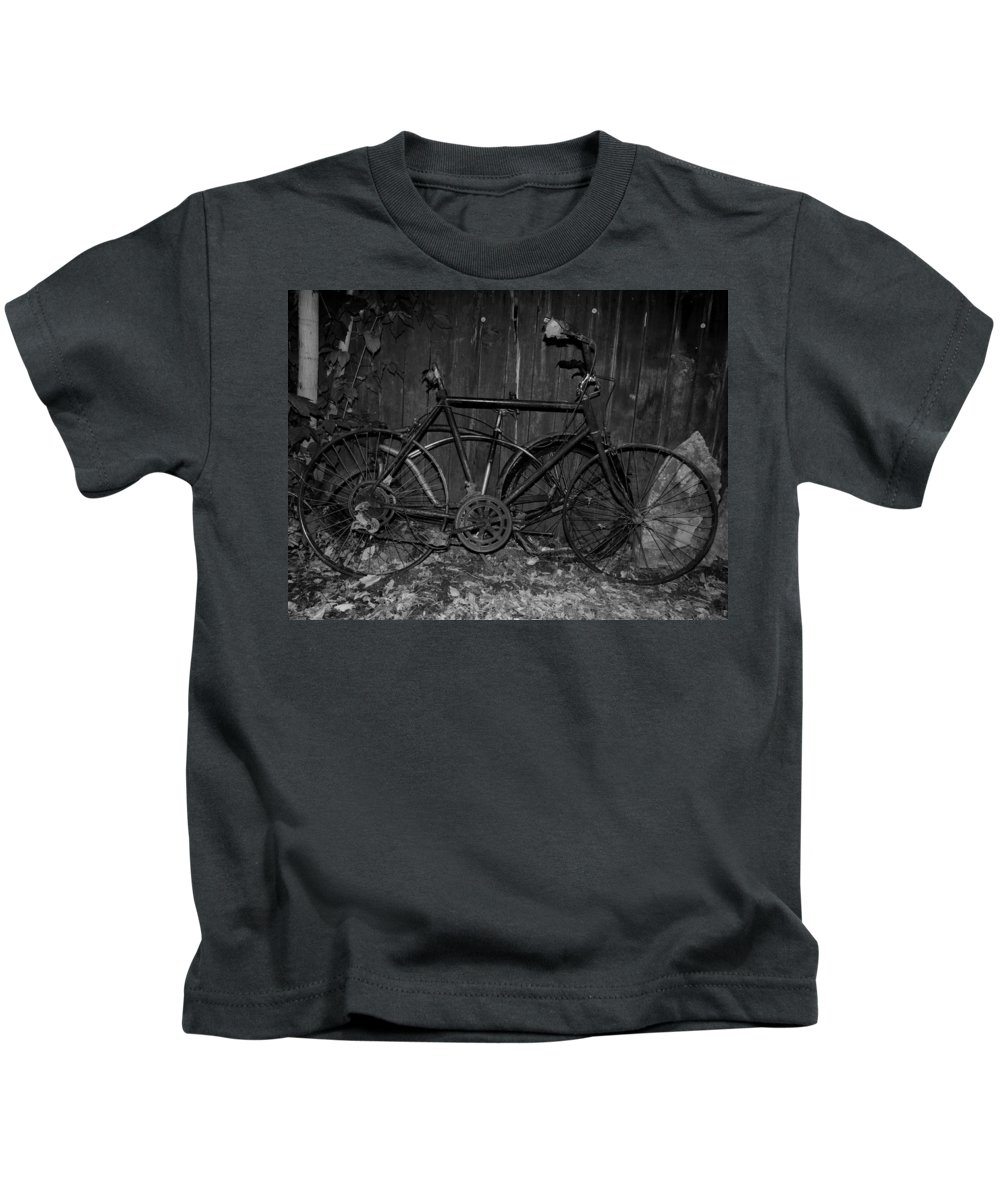 Black And White Photography Kids T-Shirt featuring the photograph Rusty Ride by Kirk Griffith