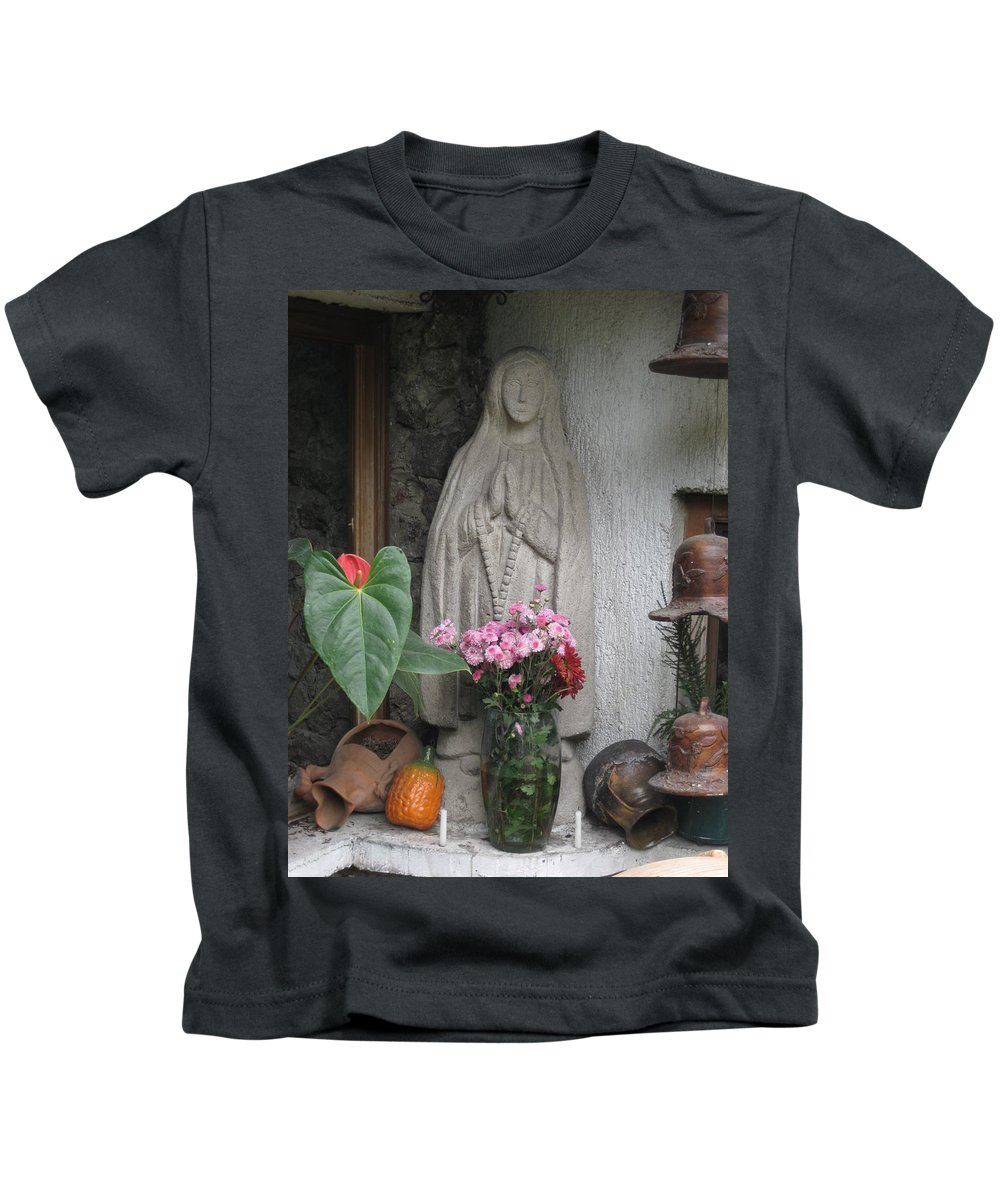 Virgin Mary Kids T-Shirt featuring the photograph Sacred Guatelupe by Mara Bjornstad