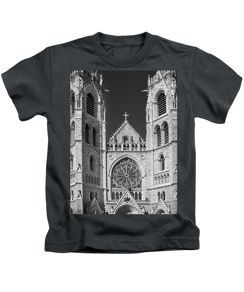 Cathedral Kids T-Shirt featuring the photograph Sacred Heart Cathedral - Newark,new Jersey by Yuri Lev
