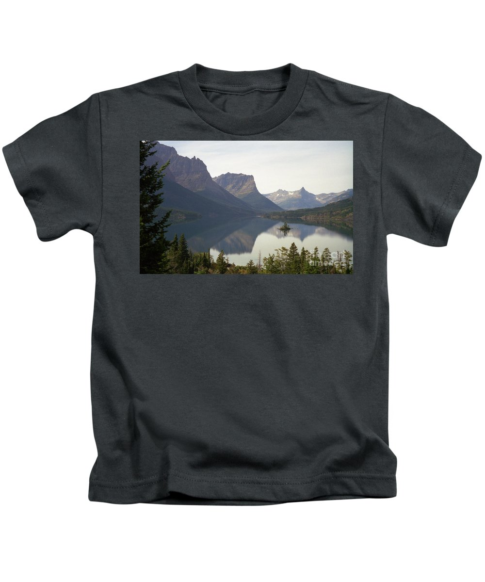 Lake Kids T-Shirt featuring the photograph Saint Marys Lake by Richard Rizzo
