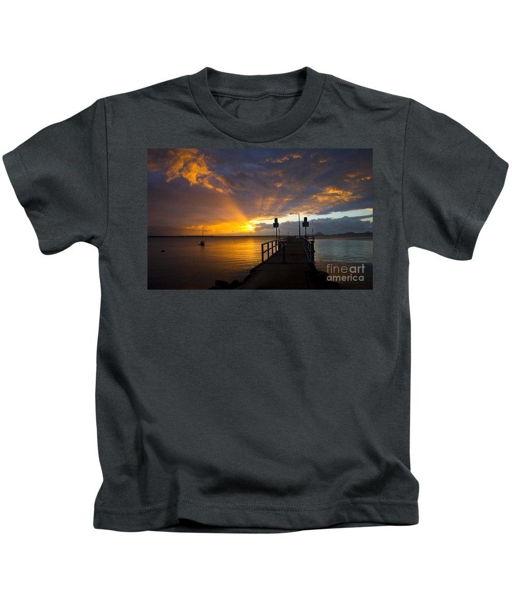Sunrise Kids T-Shirt featuring the photograph Salamander Bay Sunrise by Sheila Smart Fine Art Photography