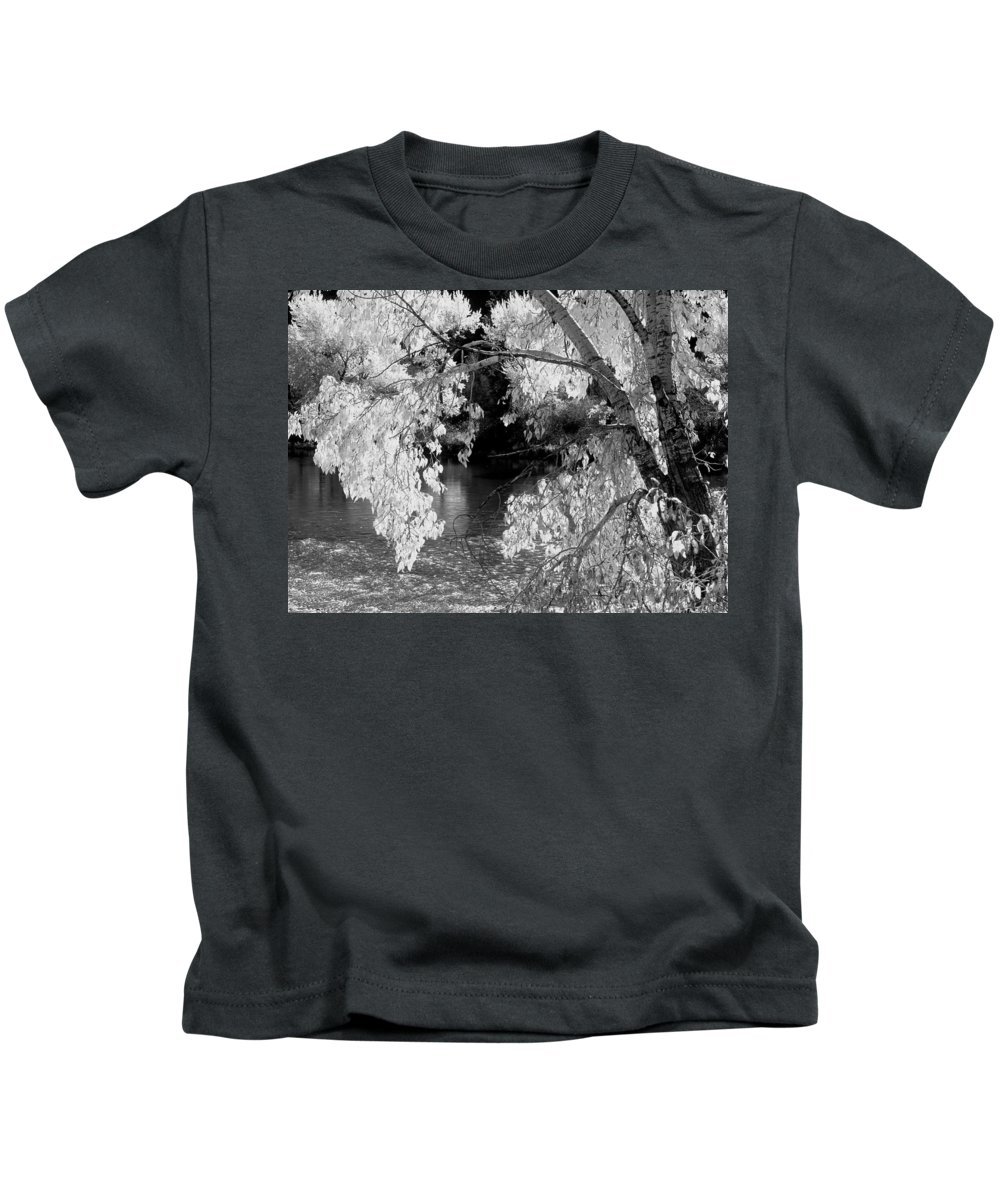 Salmon River Kids T-Shirt featuring the photograph Salmon River Autumn by Leland D Howard