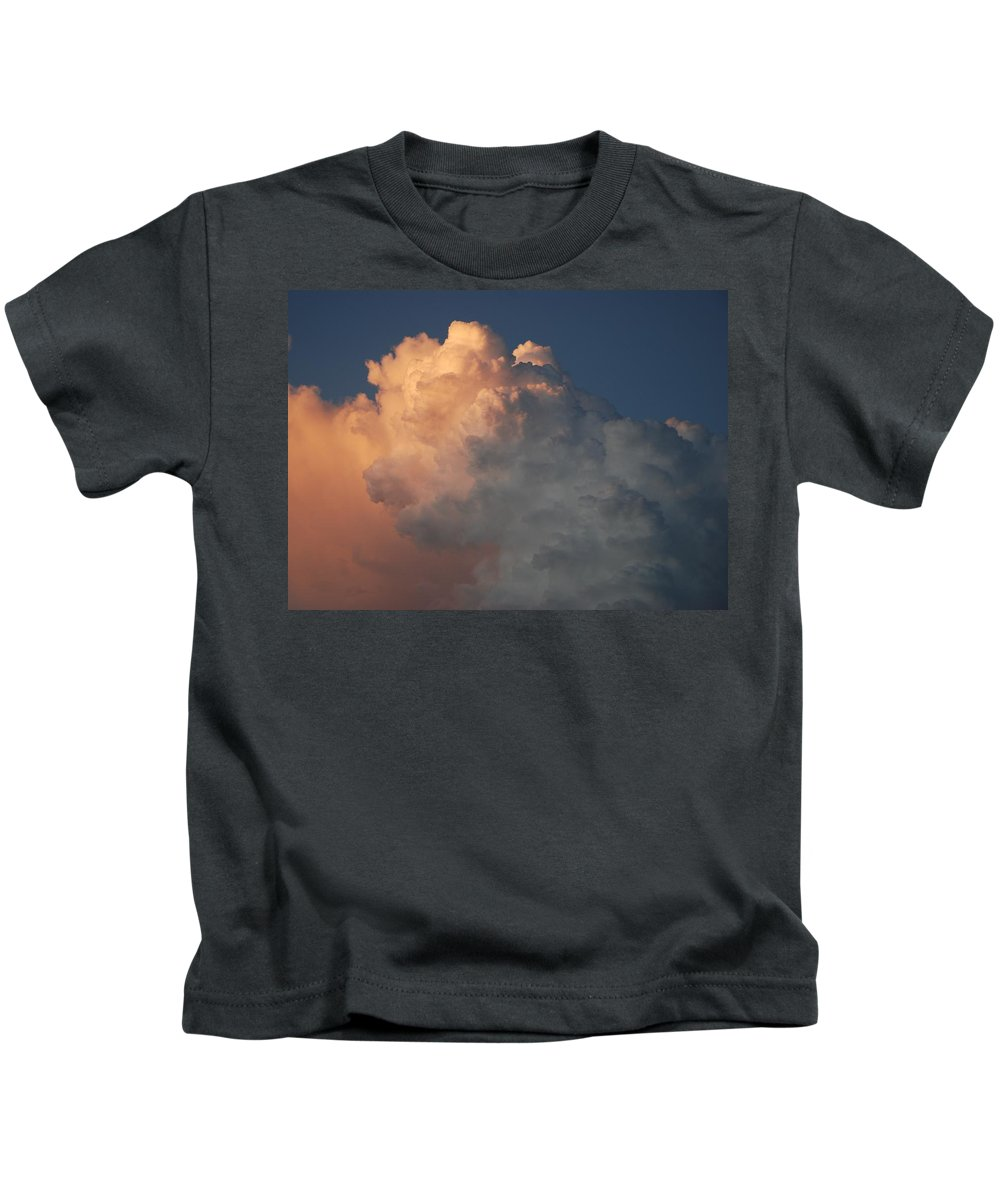 Clouds Kids T-Shirt featuring the photograph Salmon Sky by Rob Hans
