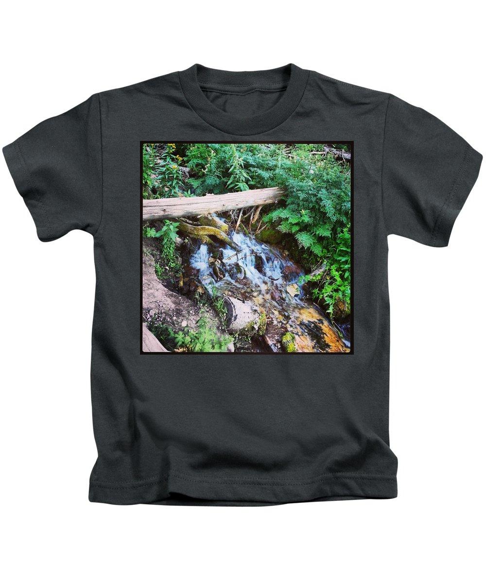 Kids T-Shirt featuring the photograph Mill Creek Canyon - Utah by Chris Shepherd