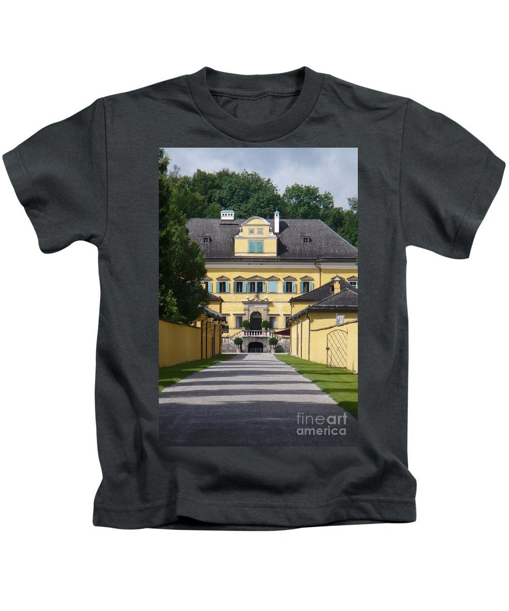 Austria Kids T-Shirt featuring the photograph Salzburg Chateau by Carol Groenen