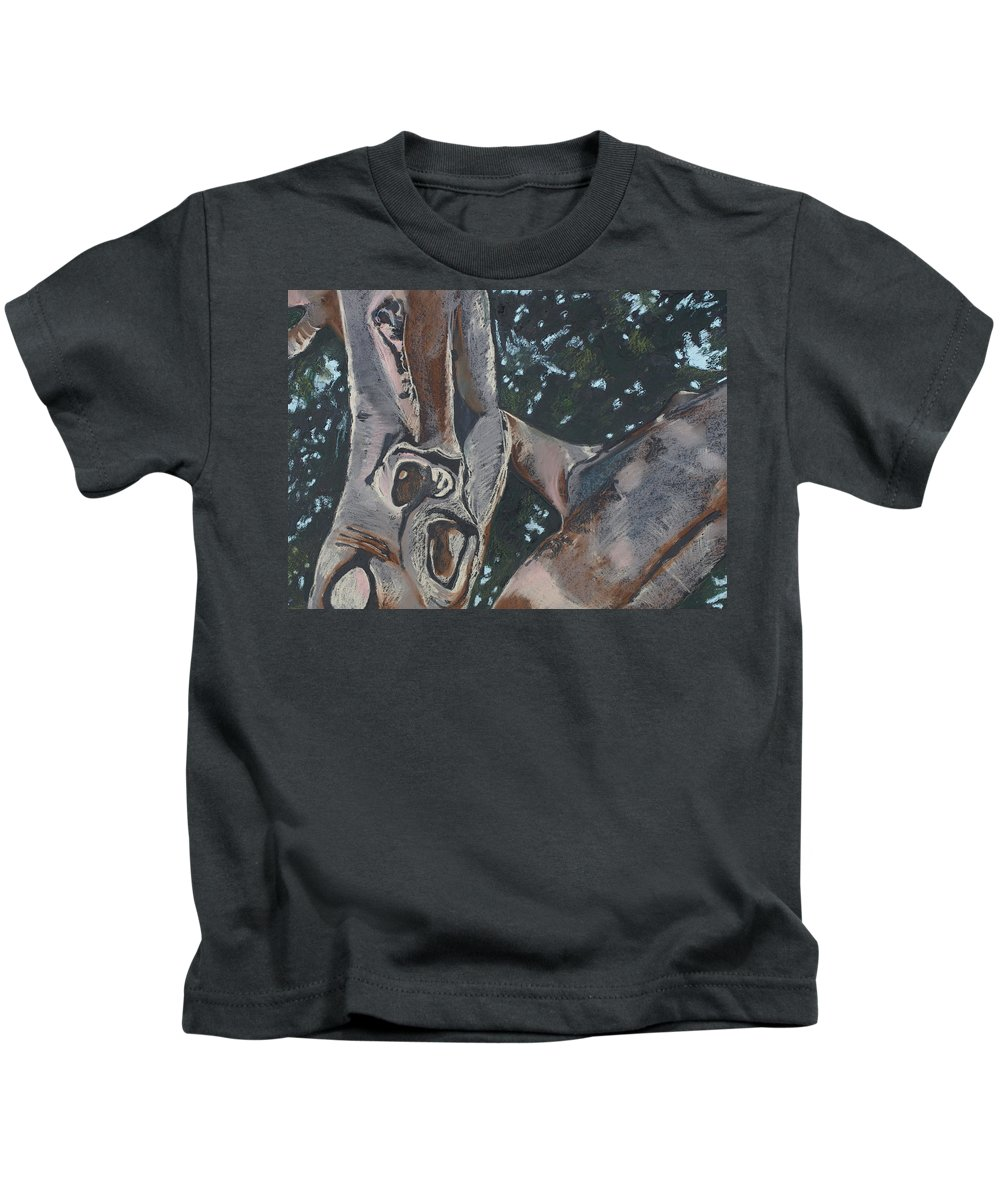Contemporary Tree Kids T-Shirt featuring the drawing San Diego Zoo by Leah Tomaino