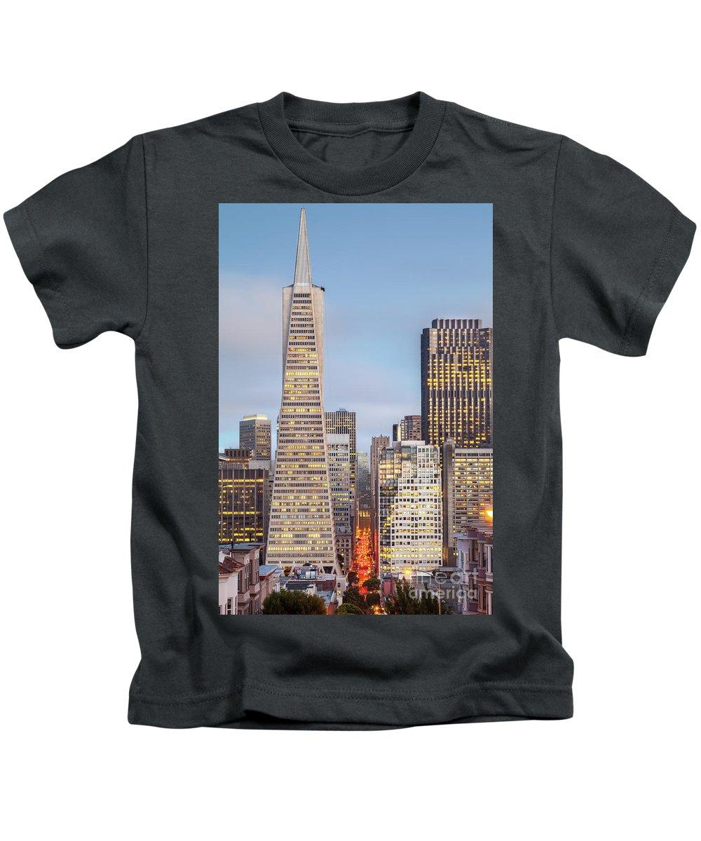 San Kids T-Shirt featuring the photograph San Francisco Skyline 2 by Martin Williams