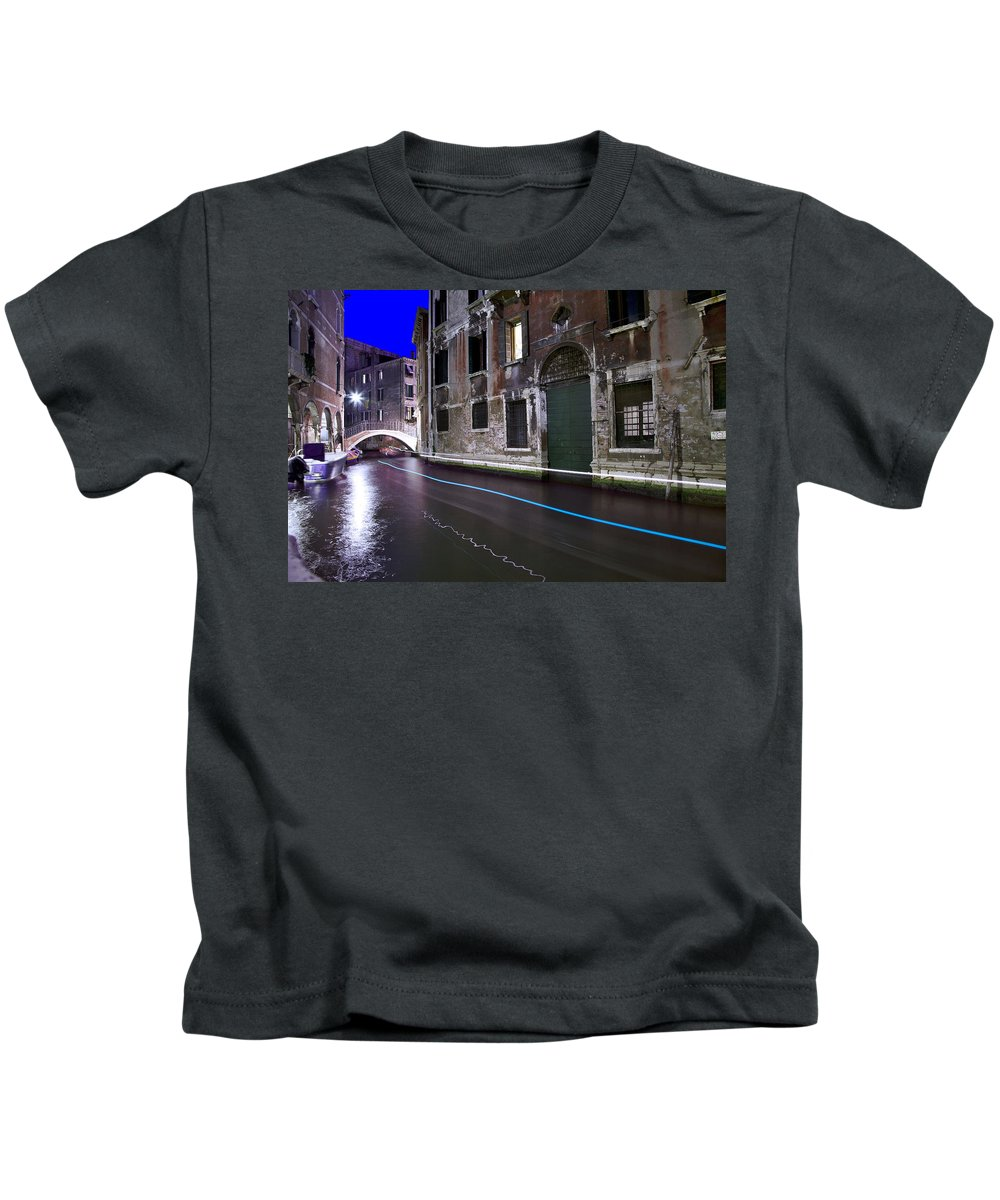 Italy Kids T-Shirt featuring the photograph San Marco By Nightt by Jean-luc Bohin