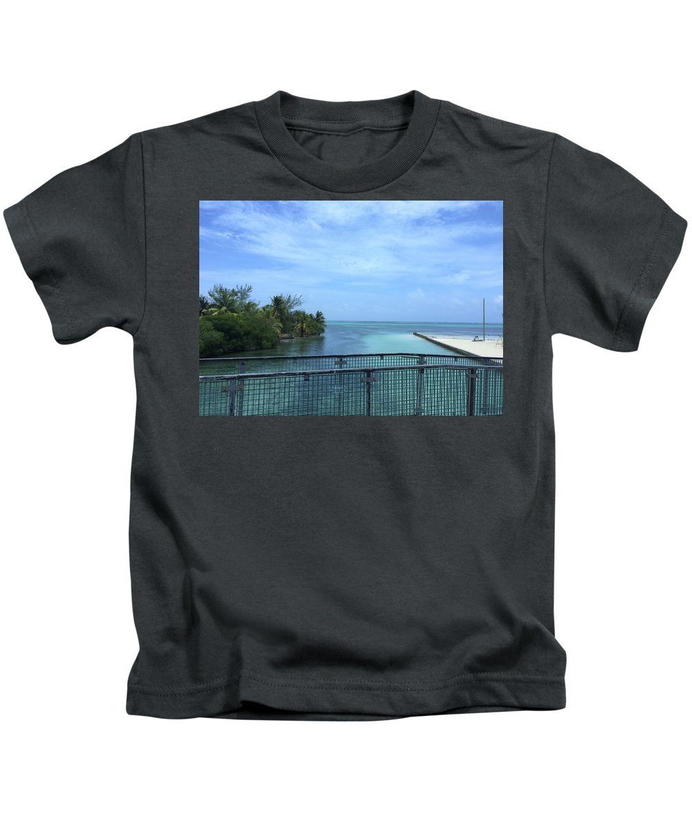 Landscape Kids T-Shirt featuring the photograph San Pedro Belize by Julia Breheny