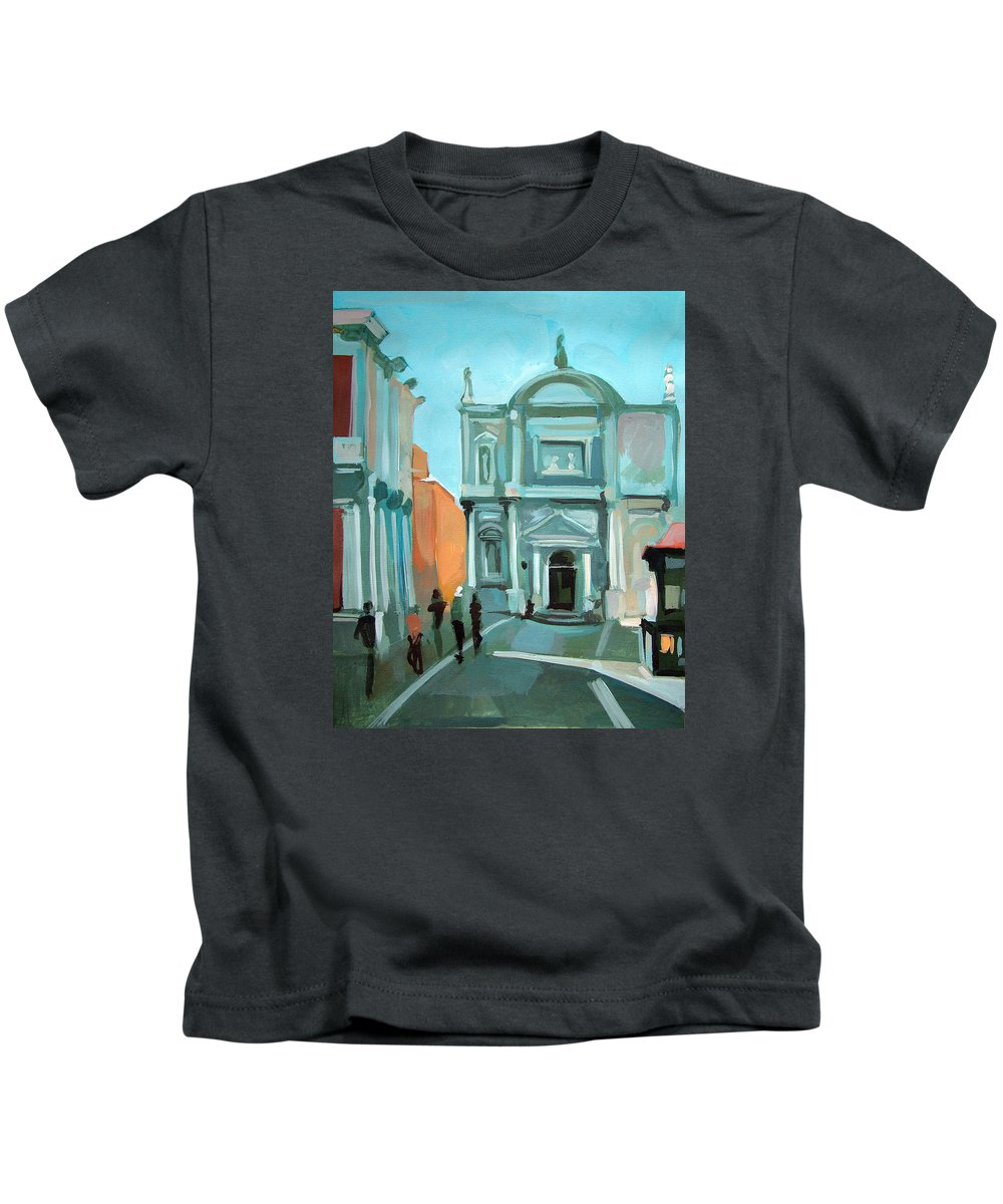 Sxuola Grande Di S. Rocco Kids T-Shirt featuring the painting San Rocco by Filip Mihail