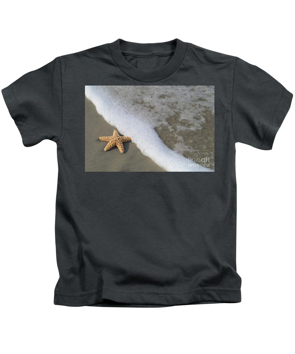 Background Kids T-Shirt featuring the photograph Sand Patterns by Dana Edmunds - Printscapes