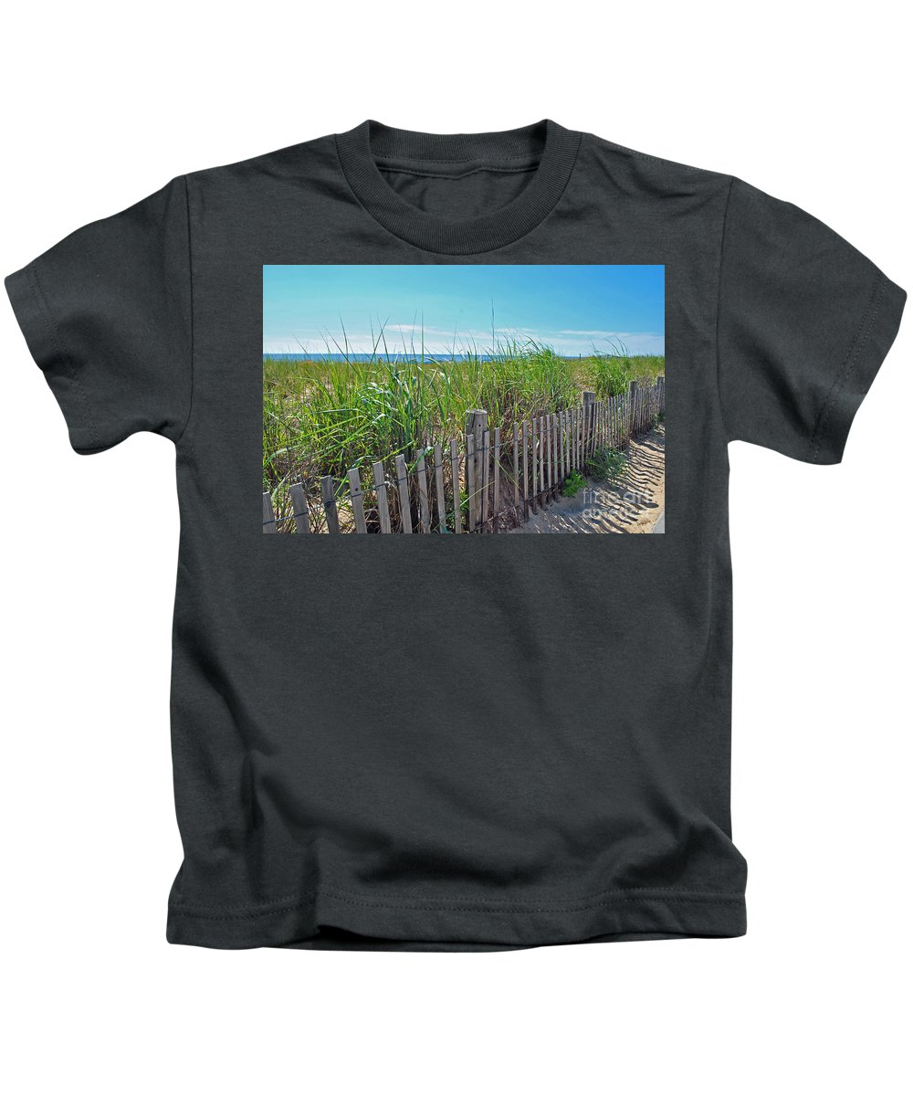Rehoboth Kids T-Shirt featuring the photograph Sands Of The Dune by Jost Houk