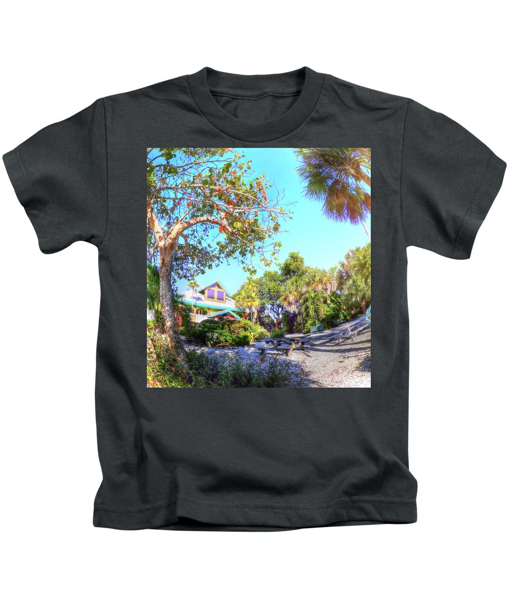 Sanibel Kids T-Shirt featuring the photograph Sanibel And Captiva Visitor Center Iv by Tina Baxter