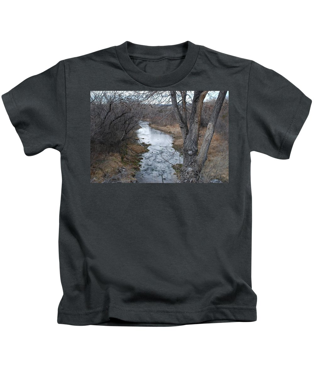 Santa Fe Kids T-Shirt featuring the photograph Santa Fe River by Rob Hans