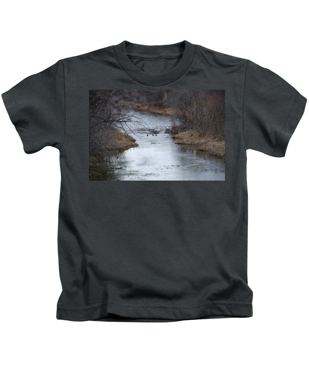 Birds Kids T-Shirt featuring the photograph Sante Fe River by Rob Hans