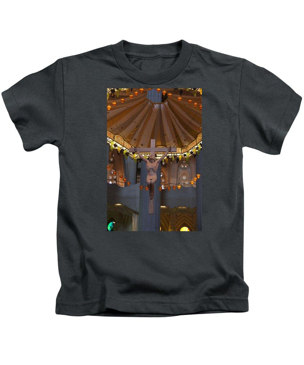 Christ Kids T-Shirt featuring the photograph Savior by Ron Koivisto