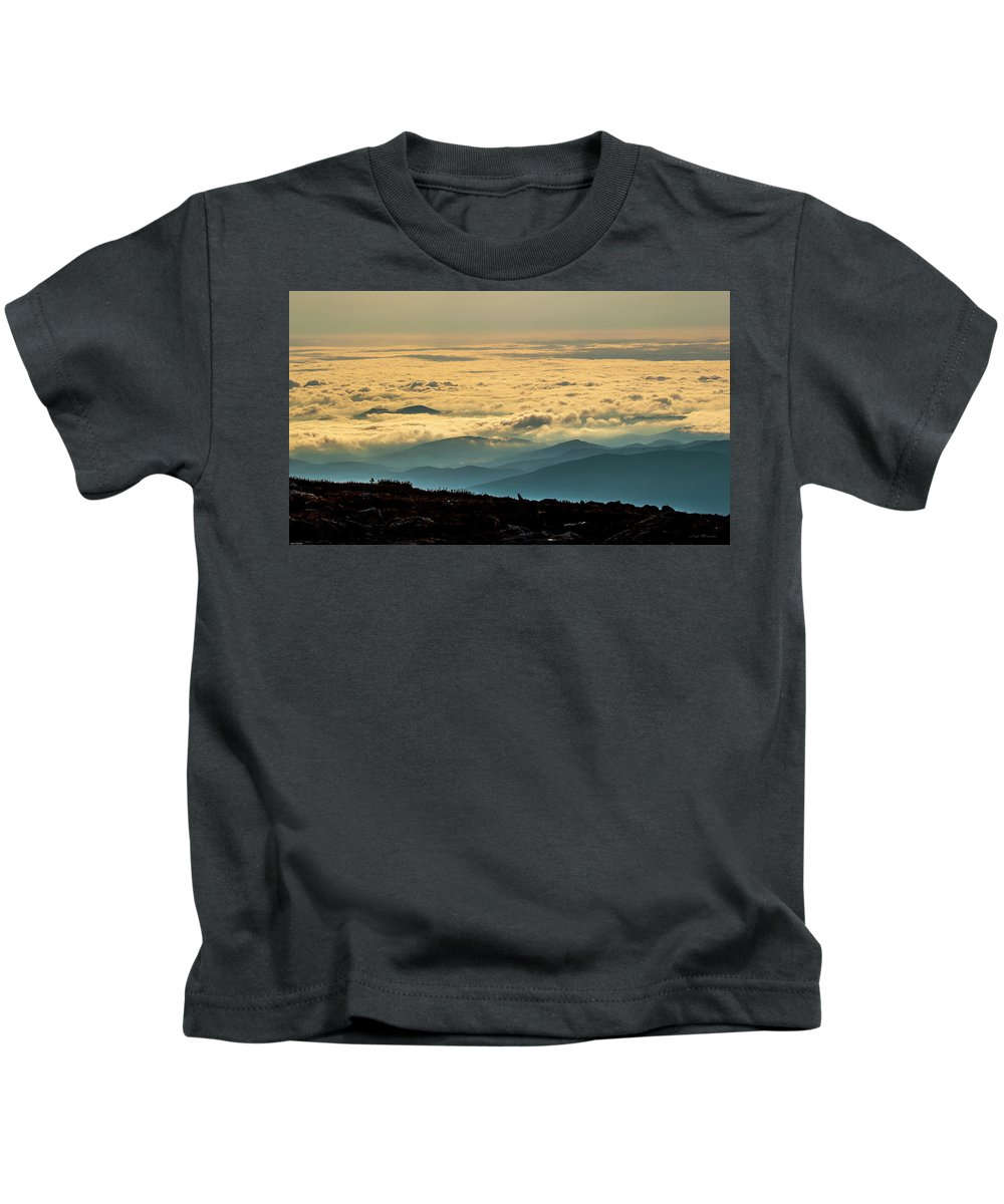 Mountains Kids T-Shirt featuring the photograph Scene From High Above by Judi Dressler