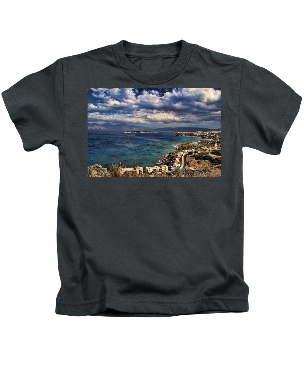 Crete Kids T-Shirt featuring the photograph Scenic View Of Eastern Crete by David Smith