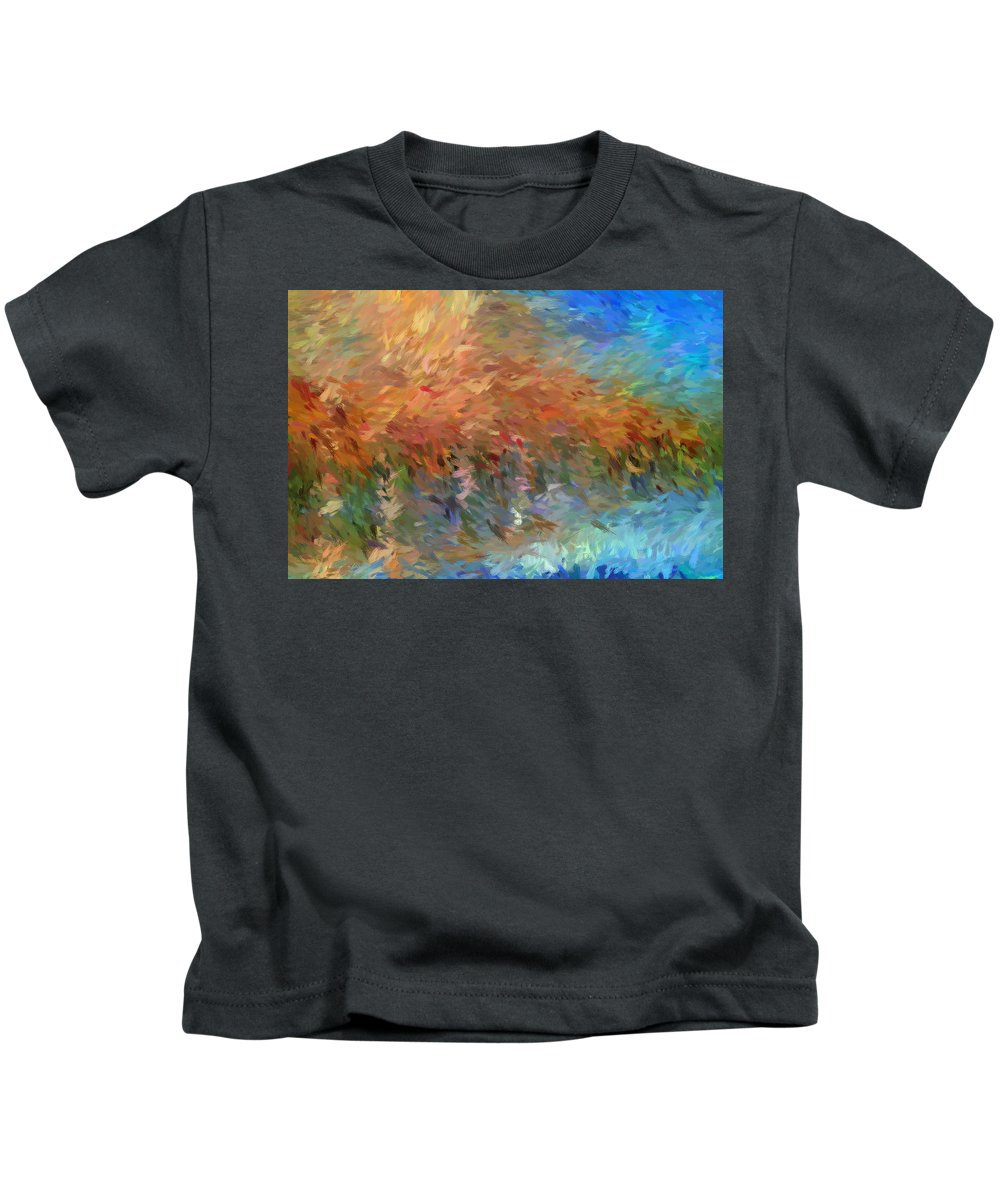 Blue Kids T-Shirt featuring the photograph Sea And Sky by Don Zawadiwsky