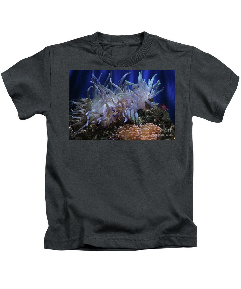 Ocean Kids T-Shirt featuring the photograph Sea Anemone by Paulette Thomas