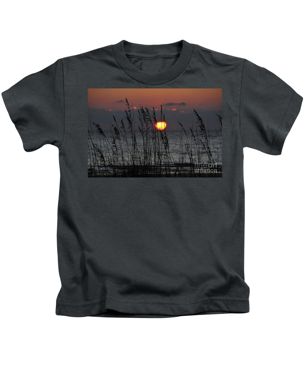 Sea Oats Kids T-Shirt featuring the photograph Sea Oats by David Lee Thompson