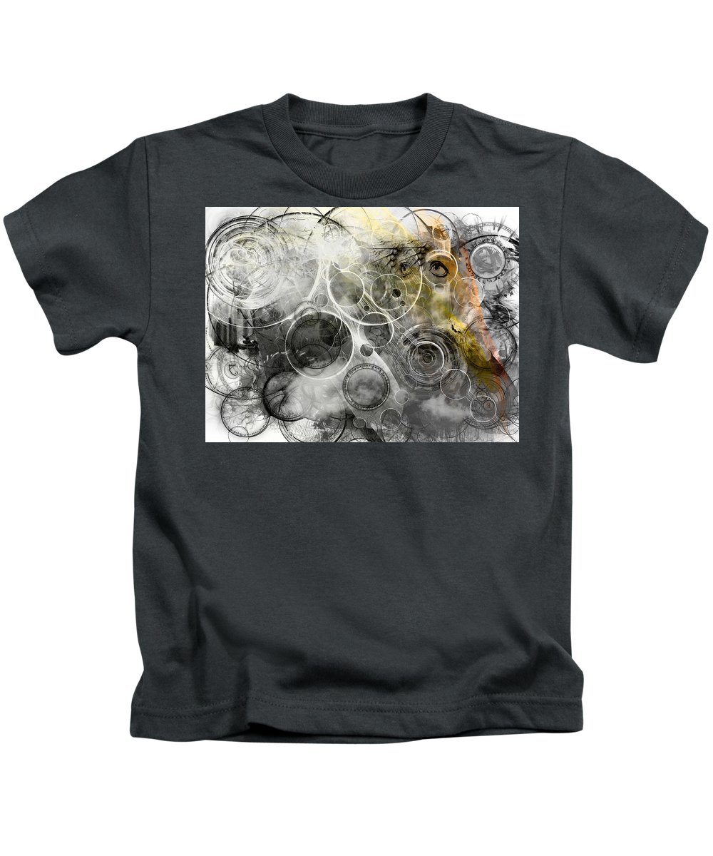 Digital Art Kids T-Shirt featuring the digital art Searching For An Answer - Version 2 by Adam Vance