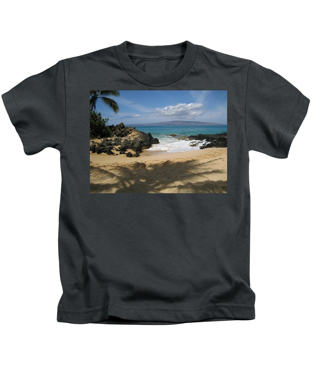 Tropical Kids T-Shirt featuring the photograph Secret Cove by Angie Hamlin
