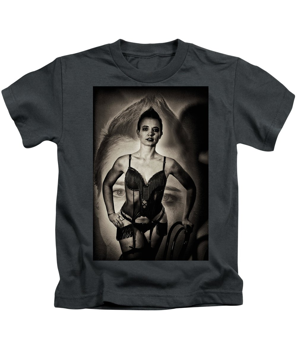 Double Exposure Kids T-Shirt featuring the photograph Seeing Double by Allan Castle