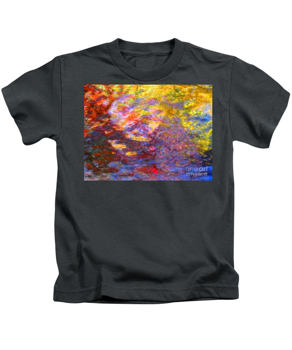 Abstract Kids T-Shirt featuring the photograph Coming Together by Sybil Staples