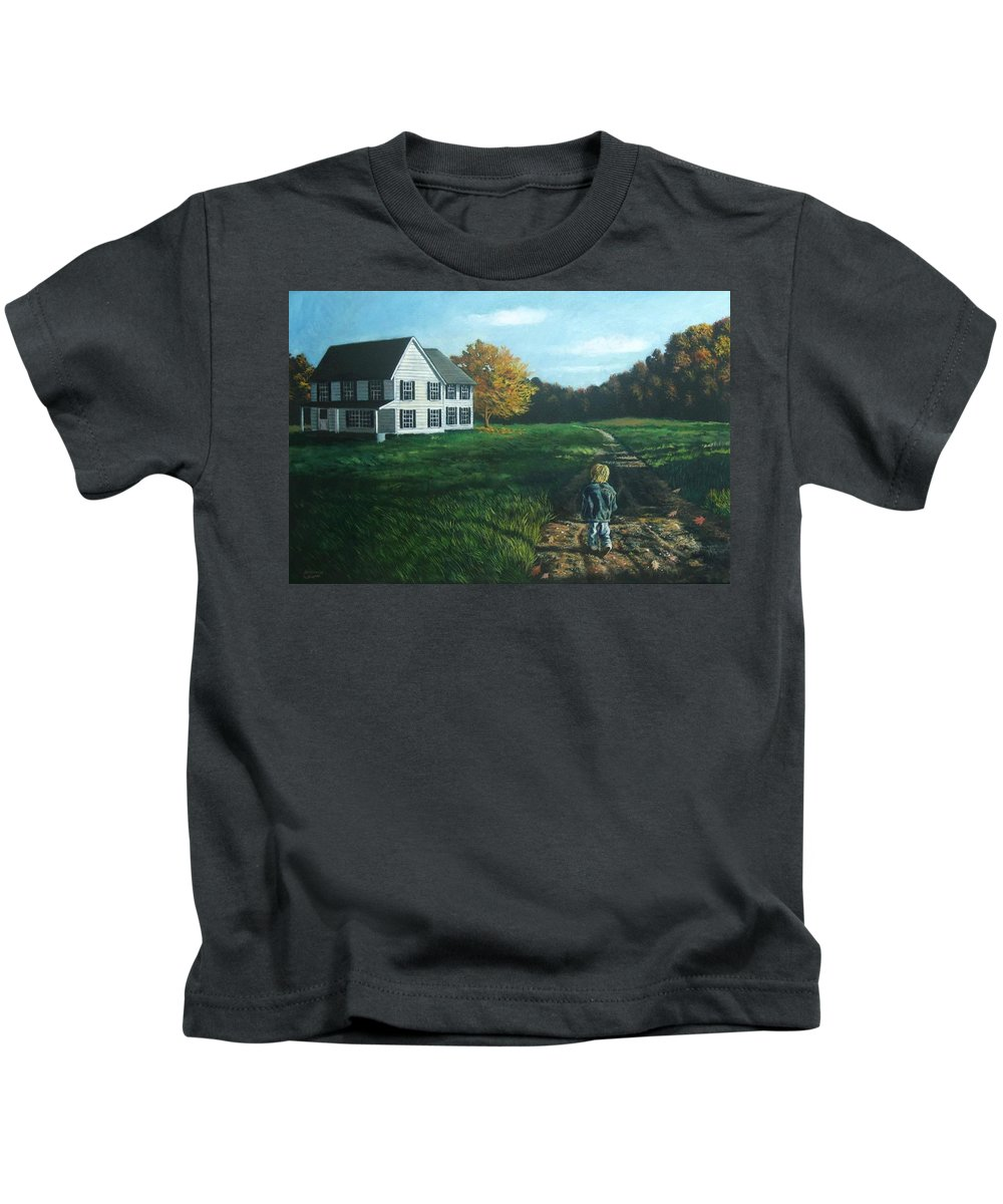 Pennsylvania Kids T-Shirt featuring the painting September Breeze Number 4 by Christopher Shellhammer