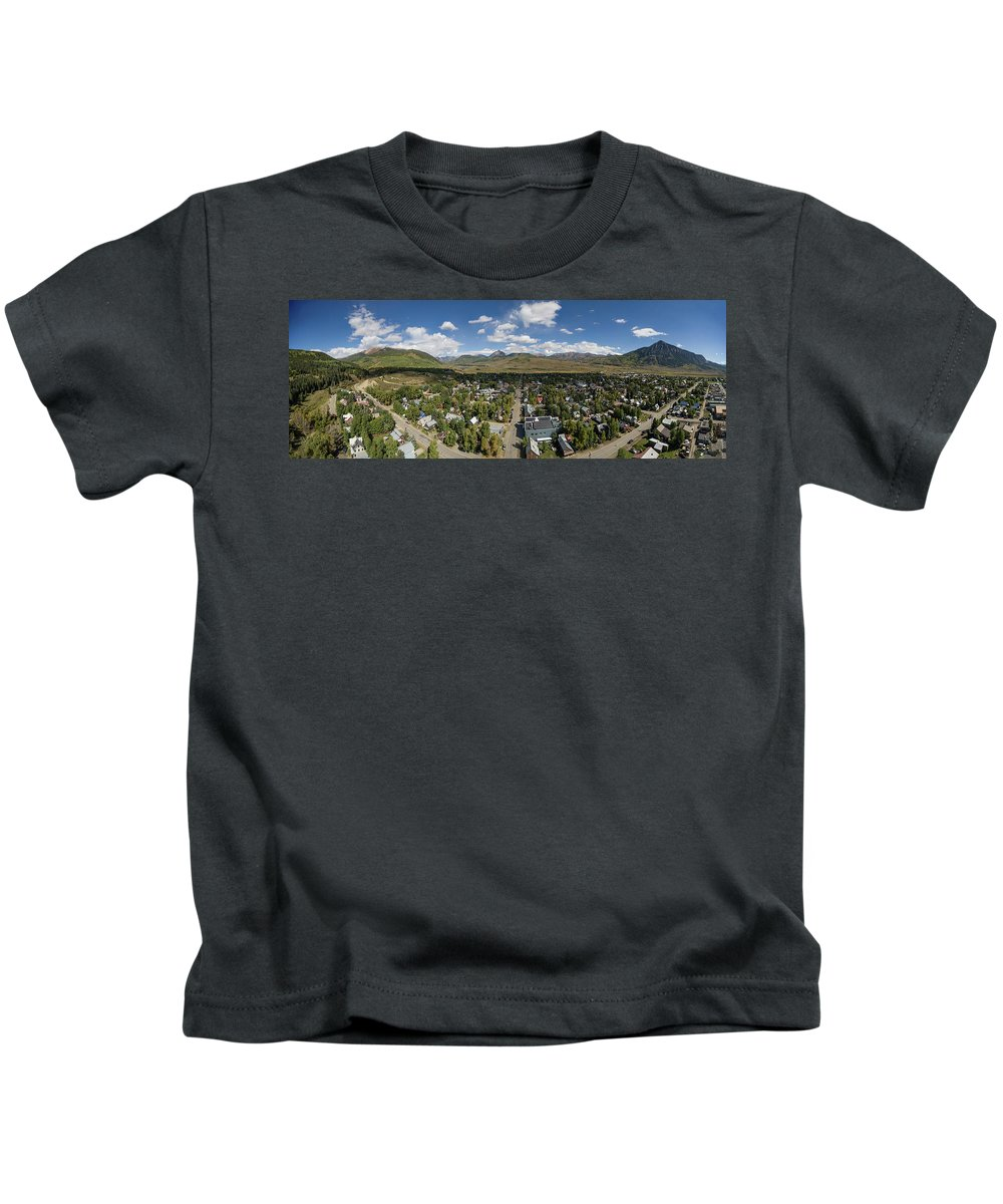 Colorado Kids T-Shirt featuring the photograph September Skies Over Crested Butte by Dusty Demerson