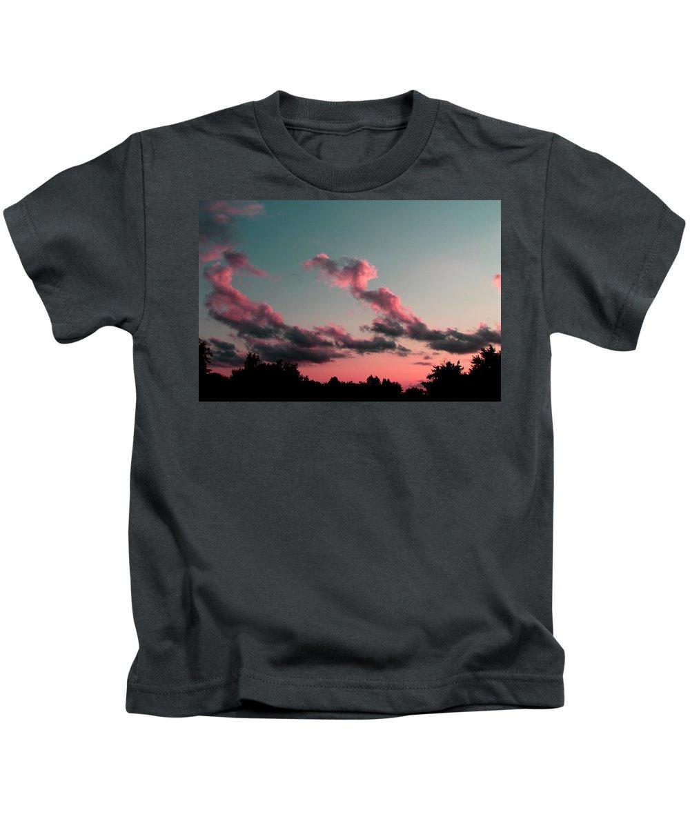 Sunset Kids T-Shirt featuring the photograph Serenity by Jose Corona