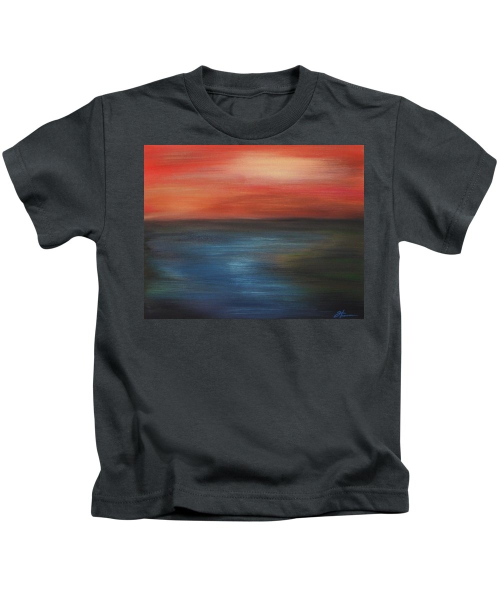 Scenic Kids T-Shirt featuring the painting Serenity by Todd Hoover