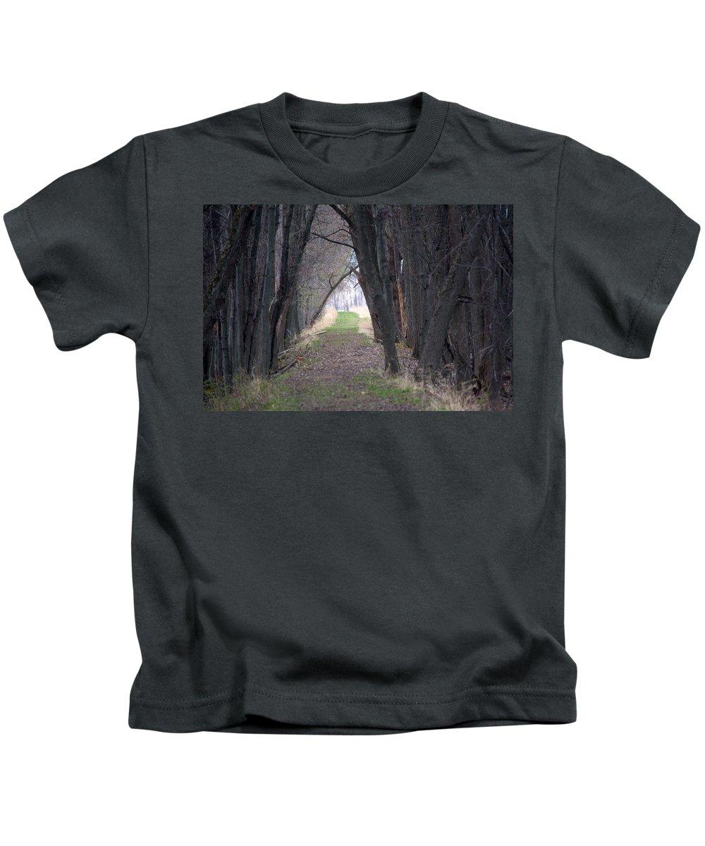Path Kids T-Shirt featuring the photograph Shaded Walk by Linda Kerkau