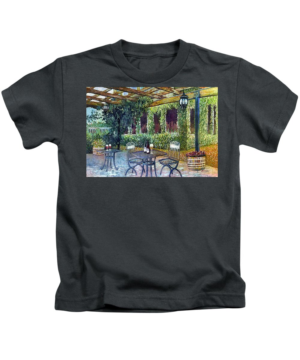Wine Kids T-Shirt featuring the painting Shades Of Van Gogh by Hailey E Herrera