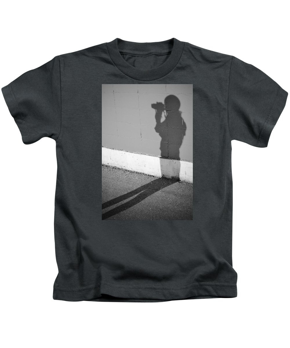 Street Photography Kids T-Shirt featuring the photograph Shadows I Knew by The Artist Project